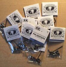 10 Packs! Pin Keepers / Locking Backs  Biker  Pin Locks / Savers w/ Allen Wrench