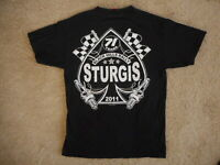 2011 Sturgis SD Motorcycle Black T Shirt Medium Hot Leathers Spade 100% Cotton