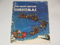 The Night Before Christmas by Clement  C. Moore 1970 Paperback