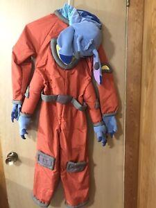Disney Store STITCH Alien Halloween Costume Size M 8-10 Plush space suit 626 vtg