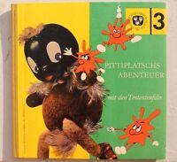 7742 Pittiplatsch S Avventura Con Dem Tintenteufeln Con Bastelbögen EA 1968 DDR