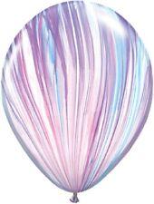 8 Balloons party Tie Dye marble Agate pastel Pink purple Blue princess Unicorn