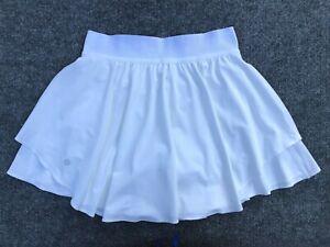 LULULEMON Court Rival High Rise Skirt Size 6 Tall White