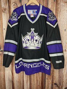 LA Kings Jersey Official Licensed NHL Jersey CCM Black & Purple ADULT Large