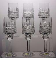 ELEGANT DESIGN CUT GLASS LEAD CRYSTAL SHERRY PORT SMALL WINE GLASSES SET OF 6