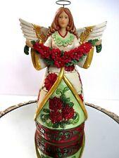 Jim Shore Angel Poinsettia 9 1/2 tall Enesco Heartwood Creek Christmas NOS #D055