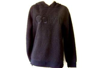 CALVIN KLEIN Black Sherpa pullover hoodie  PF9T1788 Size Medium