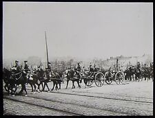 Glass Magic Lantern Slide BOULOGNE ENGLISH FIELD BATTERY AT HARBOUR WW1 PHOTO