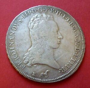 ITALIE   TOSCANE   Francescone (10 Paoli)  1799   FERDINAND III (1790-1824)