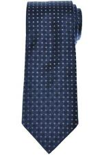 Louis Vuitton Tie Silk 58 1/2 x 3 1/8 Blue Gray V Logo Polka Dot 49TI0152 $215