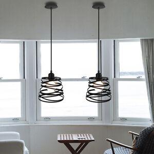Modern Hanging Retro Lights Vintage Industrial Metal Ceiling Pendant Shade Lamp
