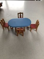 Little Tikes Dolls House Dining Table 4 Highback Chairs Excellent
