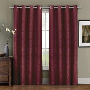 Luxury Prairie Grommet Blackout Weave Embossed Room Window Curtains Single Panel