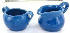 .1934 HARVEY SCHOOL POTTERY. MATCHING PAIR SUGAR & CREAMER. DATED & INITIALLED.