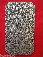 Old Chinese tibet Silver Many monkeys celebrating Bullion thanka amulet Pendant