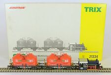 TRIX HO 21334 KOF GOODS SET DIGITAL & ANALOGUE FABULOUS RUNNER LIGHTS MINT BOXED