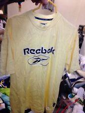 REEBOK T SHIRT en petites 36/38 à £ 7 original en jaune entièrement neuf avec étiquette