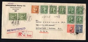 China 1940 cover from Shanghai to NY, registered mail R!R!R!