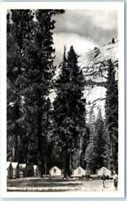 RPPC  YOSEMITE NATIONAL PARKS, CA  California   MERCED LAKE CAMP Tents  Postcard