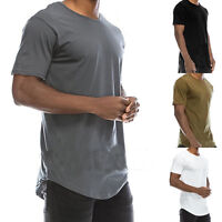 Men's Crew Neck Round Neck T-shirt Slim Short Sleeve Solid Color Casual