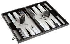 Philos Spiele Coffret Backgammon en Cuir Synthétique Incrusté