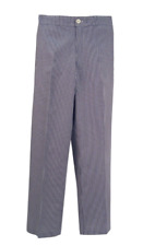 More details for new bargain chef trousers chefs whites gingham blue & white check pants b2/ct02