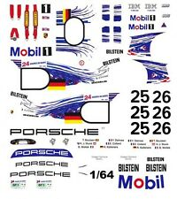 #25 Mobil 1 Porsche GT-1 1997 1/64th HO Scale Slot Car Waterslide Decals