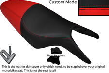 BLACK & RED CUSTOM FITS CAGIVA RAPTOR 650 1000 DUAL LEATHER SEAT COVER ONLY