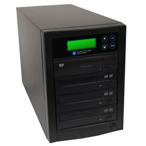 1 to 3 SONY Dual Layer DVD/CD Copy Burners Duplicator Tower System