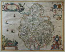 CUMBRIA & WESTMORIA VULGO CUMBERLAND AND WESTMORELAND BY JANSSONIUS. 1646.