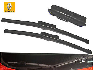 "RENAULT CLIO 2012 ONWARDS FLAT WINDSCREEN WIPER BLADES 24""14"""