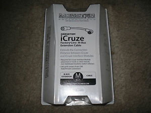 Monster iCruze for iPod M Bus Extension Cable MPC FX MBUS-5M New!!!