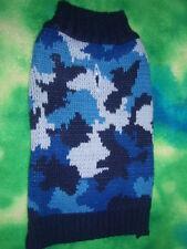 Pet Pullover Sleeveless Knit Camo Dog Sweater Pink Blue Gray Purple Size M S XS