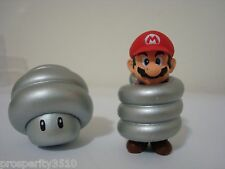 SUPER MARIO GALAXY 2 MINI FIGURINE SPRING 2PC SET MARIO AND MUSHROOM