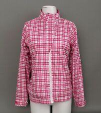 Women's AUR Stormpack Golf Jacket-Windbreaker Pink & Gray Plaid Print Sz.Small