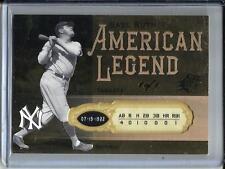 Babe Ruth 2008 SPX American Legend #1/1 (BR52)