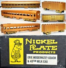 Erie Modernized Coach & Milk Car Nickle Plate Products Brass HO UP BA21.102