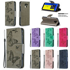 Holder Stand Butterfly Leather Card Wallet Flip Case Cover For Samsung M10 A6 S9