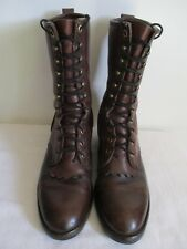 Georgia Work Boots Ox Blood Leather Boots Lace Up Vibram Size 8 Men