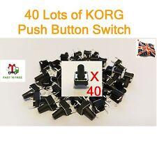 40 x KORG Push Button Switch X3  X5 N364 N264 TRINITY 01W T1 T2 M1 M1R 01/W UK