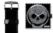 S.T.A.M.P.S. Stamps Uhr Motiv DIAMOND HEAD  + Armband CLASSIC GLOSSY BLACK