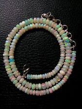 Natural Ethiopian Welo Opal Beads 17.5 To 19'' inche Necklace