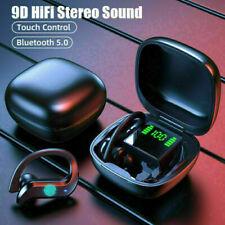 More details for wireless 5.0 bluetooth sports headphones tws earbuds in-ear hook ipx5 earphones