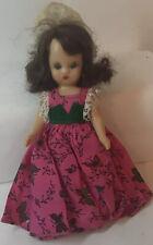 Nancy Ann Storybook Sleepy Eyes Doll Dress With Butterflies & Hat
