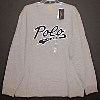 Polo Ralph Lauren Mens Gray POLO L/S Crewneck Cotton T-Shirt NWT Size L
