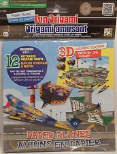 Origami Paper Planes Fighter Jet Bomber Airplane 3D Playmat Paper Arts Crafts