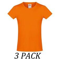 T-shirt orange à manches courtes pour fille de 2 à 16 ans