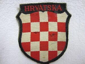 KROATIEN - Stoffabzeichen - Schild - Kroat. Freiwillige - Bevo gewebt - Hrvatska