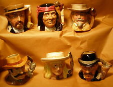 ** ROYAL DOULTON - EXC - Complete Set of SIX (6) - WILD WEST Character Jugs