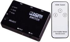 3 PORTA HDMI Switch Splitter Switcher Full HD Per HDTV DVD ps3 + TELECOMANDO